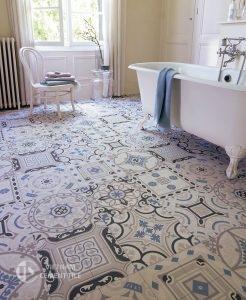 gach bong-13-246x300 Sử dụng gạch ốp lát trang trí như thế nào để nhà tắm nổi bật
