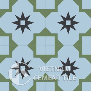 gach bong-104.1-4tiles-300x300 Encaustic cement tile CTS 104.1
